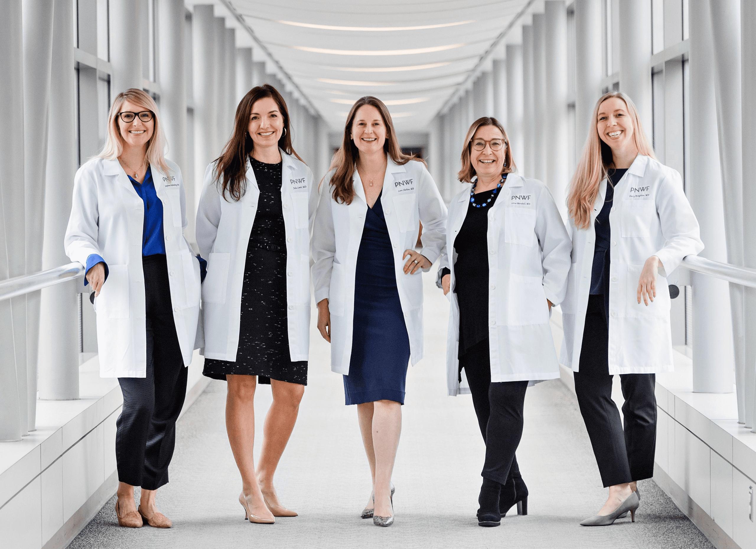 5 PNWF doctors in lab coats